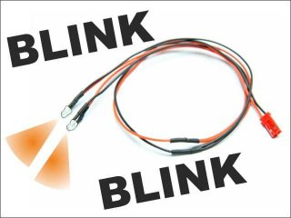 LED Kabel blinkend (orange)
