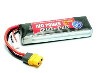LiPo Akku RED POWER SLP 2200 - 7,4V